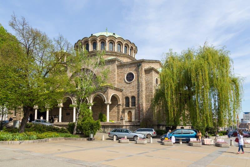 View of the Saint Nedelya Church, Sofia, Bulgaria. royalty free stock image
