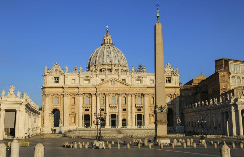 View of Saint Peter`s Basilica, Vatican city,Italy royalty free stock images