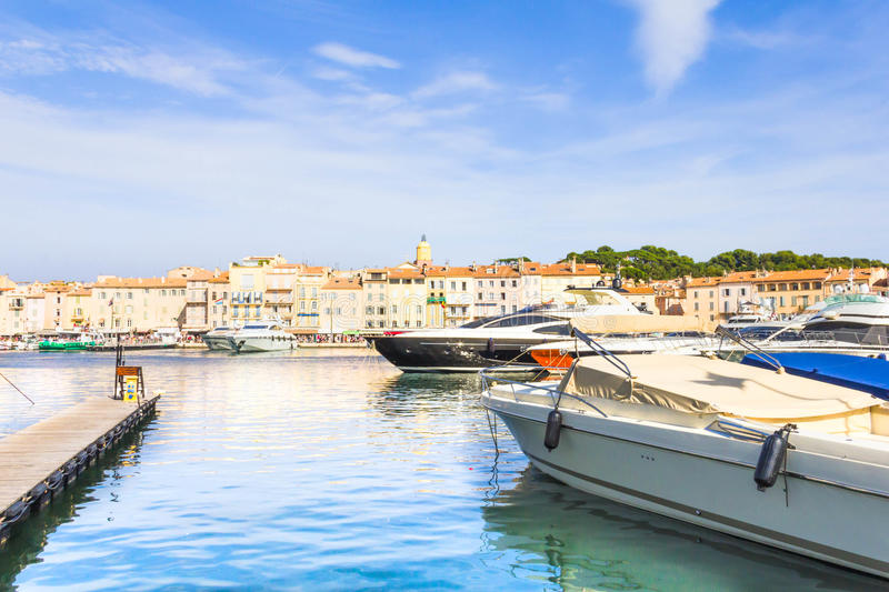 View of Saint-Tropez, south of France stock photography