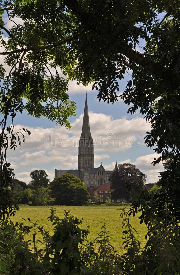 Salisbury cathedral church of the Blessed Virgin Mary stock photos