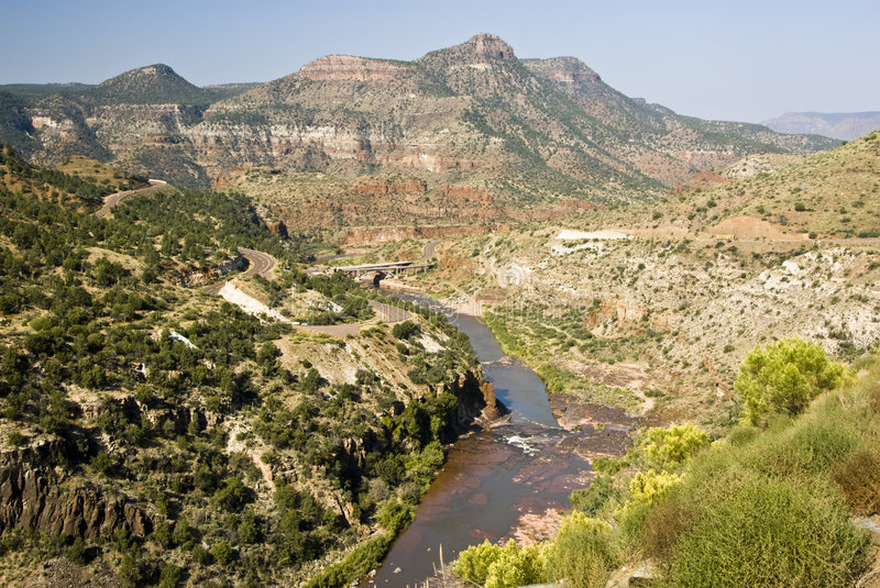 View of Salt River royalty free stock photo