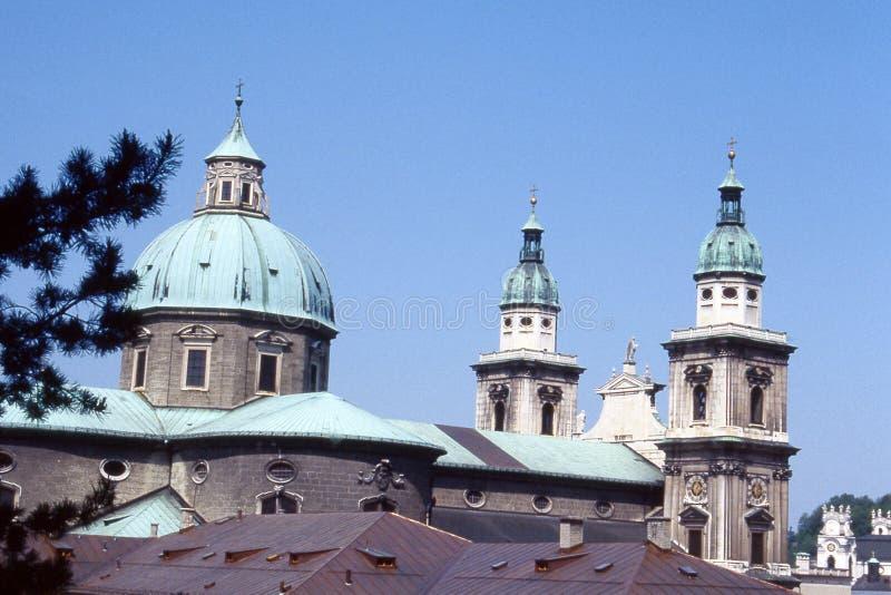 View of Salzburg. A view of the church spires of Salisbury (Salzburg), Austria royalty free stock photos