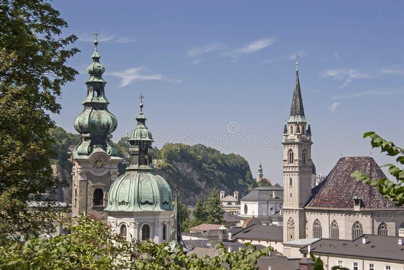 View of Salzburg in Austria royalty free stock photos