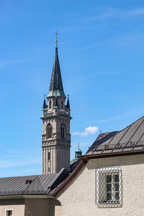 View of Salzburg and surroundings, Austria stock photo