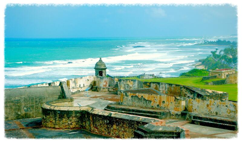 view_from_San Cristobal Fortress royalty free stock photography
