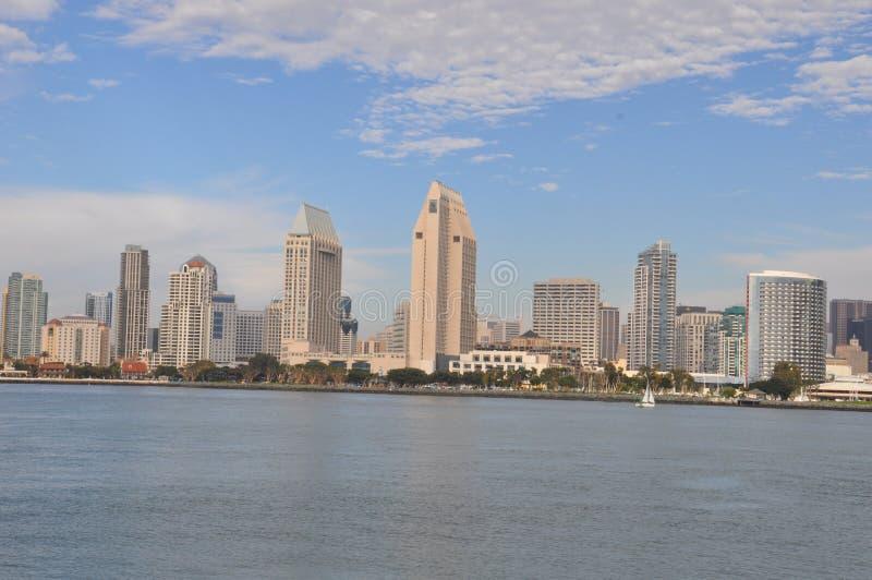 View of San Diego from Coronado Island stock photography