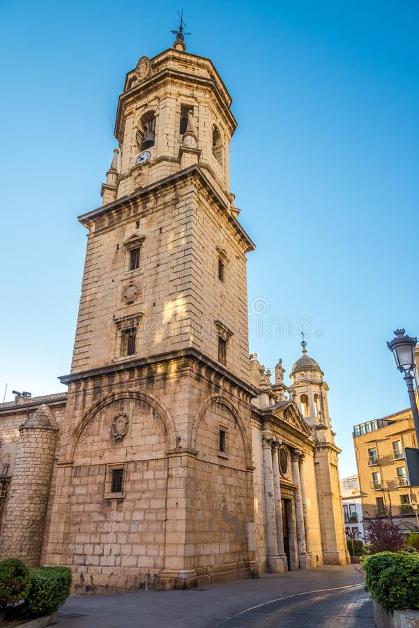 View at the San Ildefonso church in Jaen, Spain. View at the San Ildefonso church in Jaen - Spain royalty free stock photography