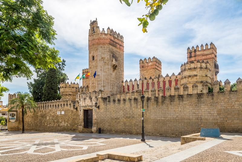 View at the San Marco castle in El Puerto de Santa Maria town, Spain. View at the San Marco castle in El Puerto de Santa Maria town - Spain royalty free stock image