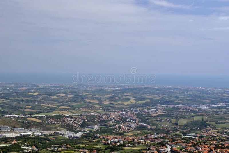 View from the San Marino Tower stock photo