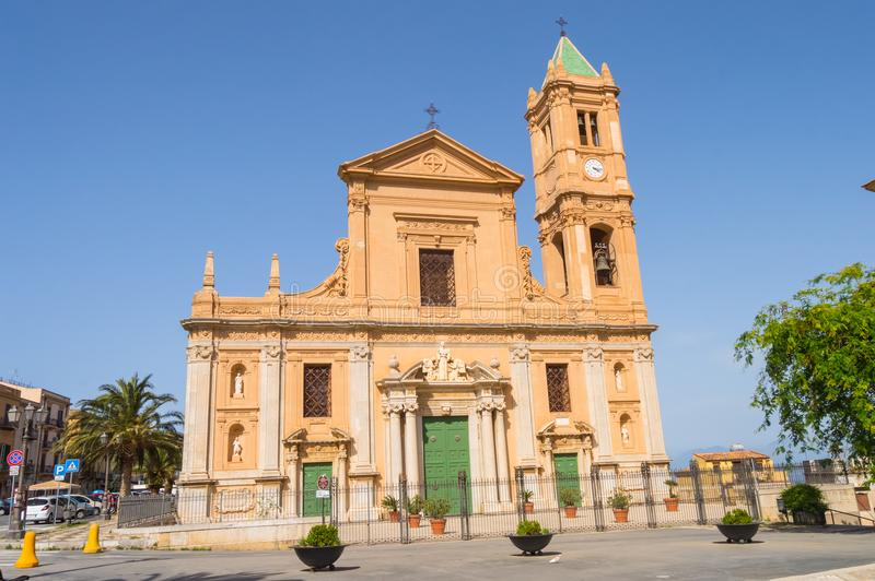 View of the San Nicola di Bari cathedral on the Duomo square in royalty free stock photography