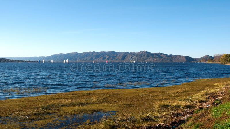 View of San Roque Lake stock images
