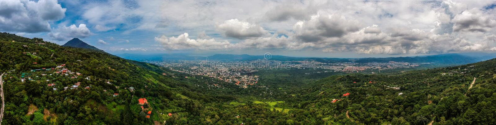 A view of San Salvador el salvador. A view of the san salvador volcano with the capital city of el salvador infront of it royalty free stock photos