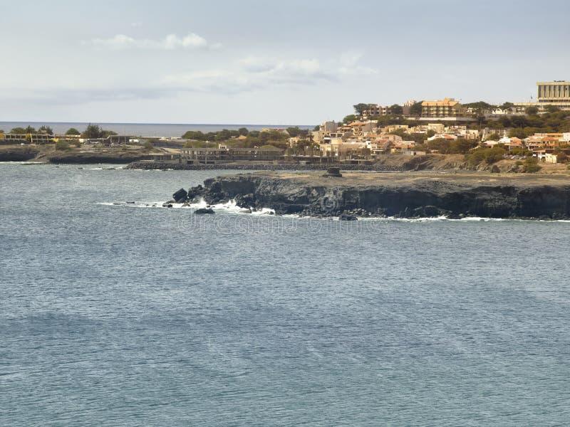 View of San Vincente coastline, Mindelo stock photos