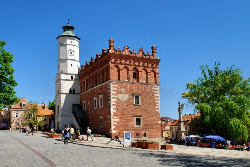 The view of Sandomierz, Poland. royalty free stock photo