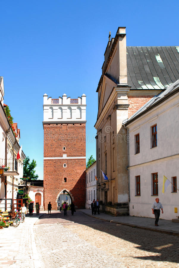 The view of Sandomierz, Poland stock photo