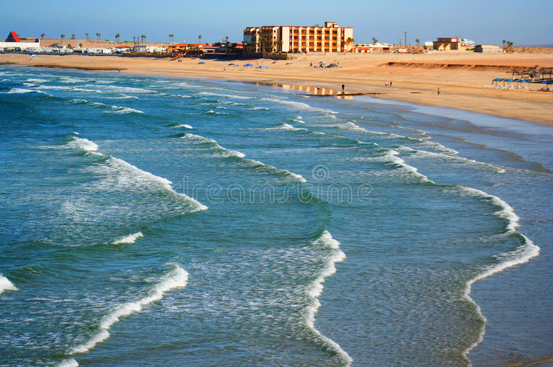 A View of Sandy Beach stock photography