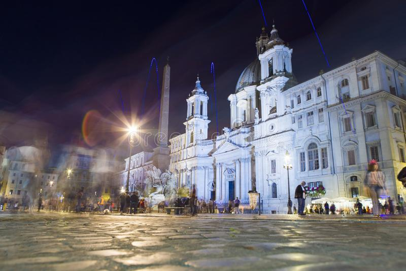 Sant`Agnese in Agone from Piazza Navona in Rome royalty free stock photo