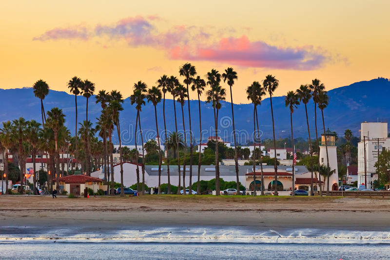 View on Santa Barbara. From the pier stock photography