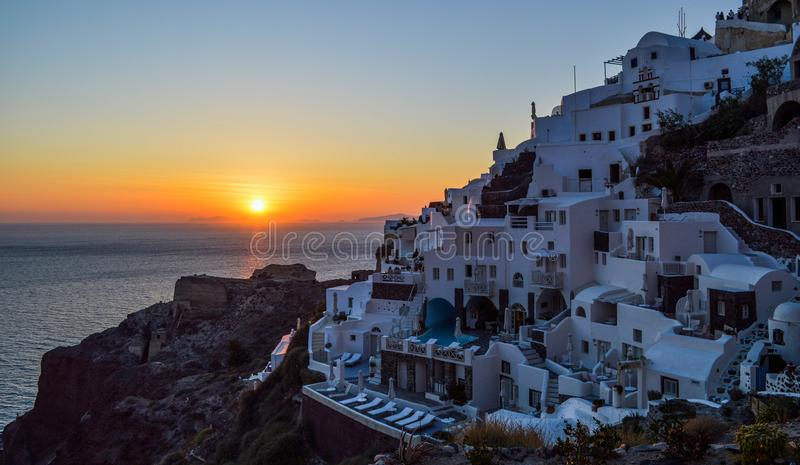 View of Santorini at Greece royalty free stock photo