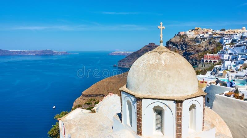 View of Santorini island in Greece stock photography