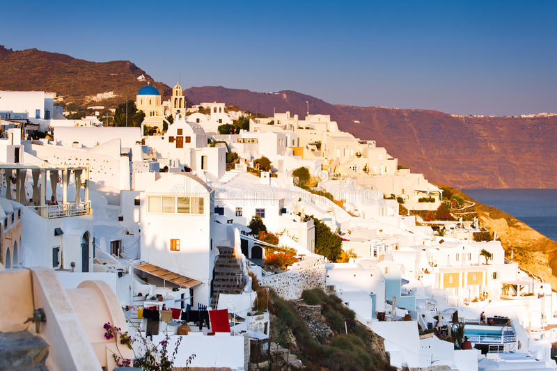 Download View Of Santorini Oia Village Streets Stock Photo - Image: 16769612