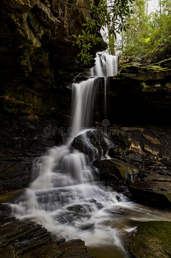 Scenic Waterfall - McCammon Branch Falls - Kentucky. A view of the scenic McCammon Branch Falls in the Appalachian Mountains of eastern Kentucky stock photo
