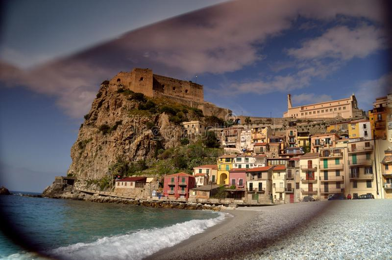 City in the south of Italy royalty free stock image