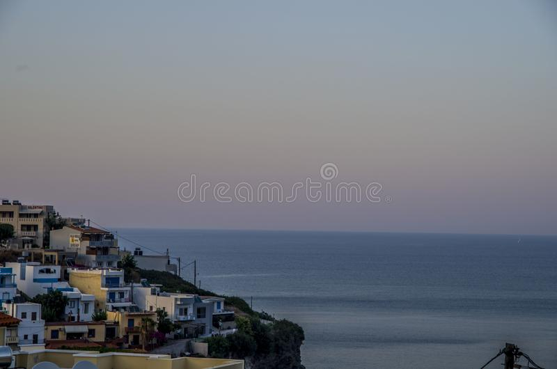 Kriti Bali view. View on sea and buildings in Bali which mean in greece honey royalty free stock image