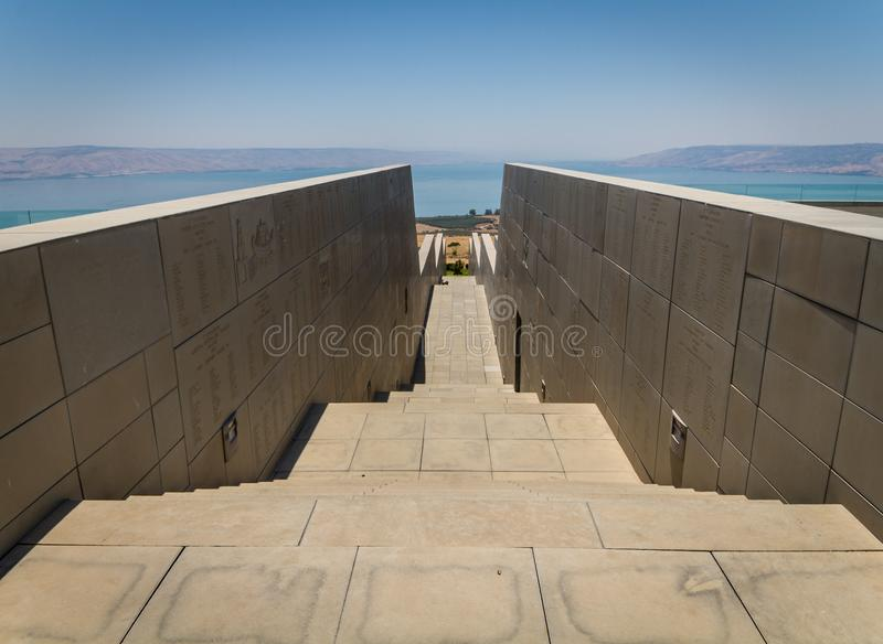 View of the Sea of Galilee in Israel stock photo