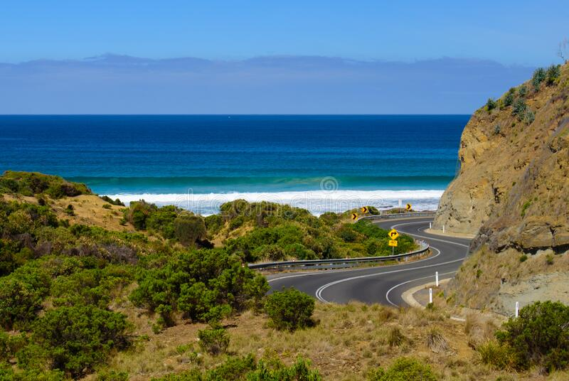 The view of sea on Great Ocean Road, Australia. The view of sea on Great Ocean Road, Victoria, Australia stock photo
