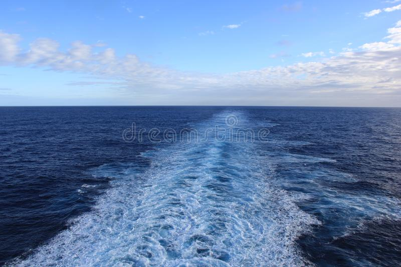 View of the sea in the late afternoon royalty free stock photography