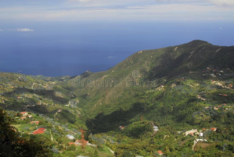View of the sea from Mount Avila, Caracas stock photography