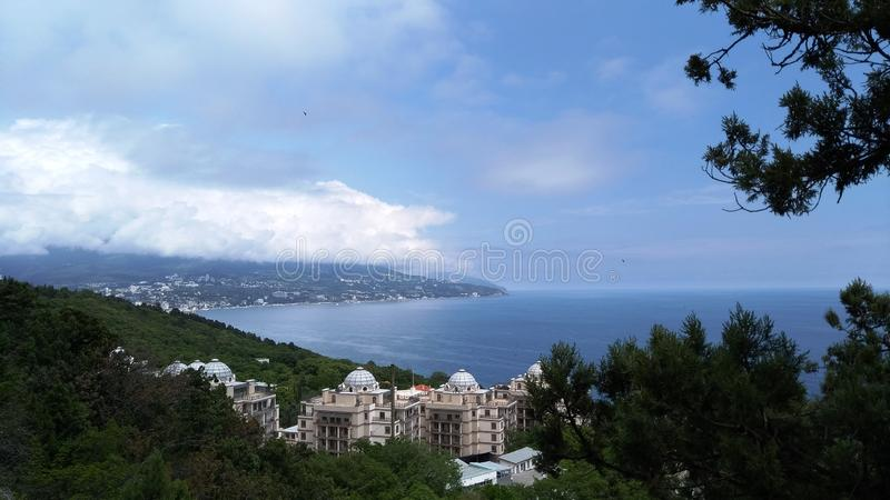 View of the seacoast in Crimea royalty free stock photos