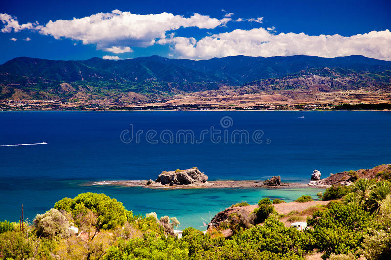 Download The View Of Seascape And Mountains Stock Photo - Image: 26154502