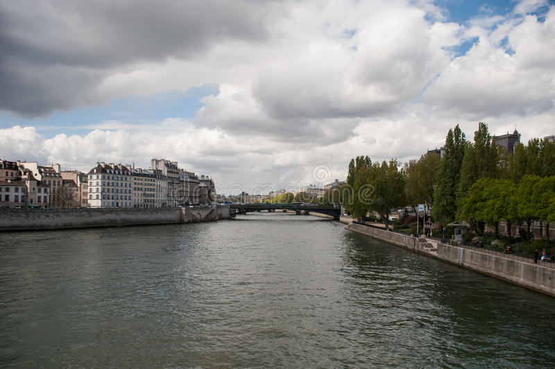 View of Seine River stock images