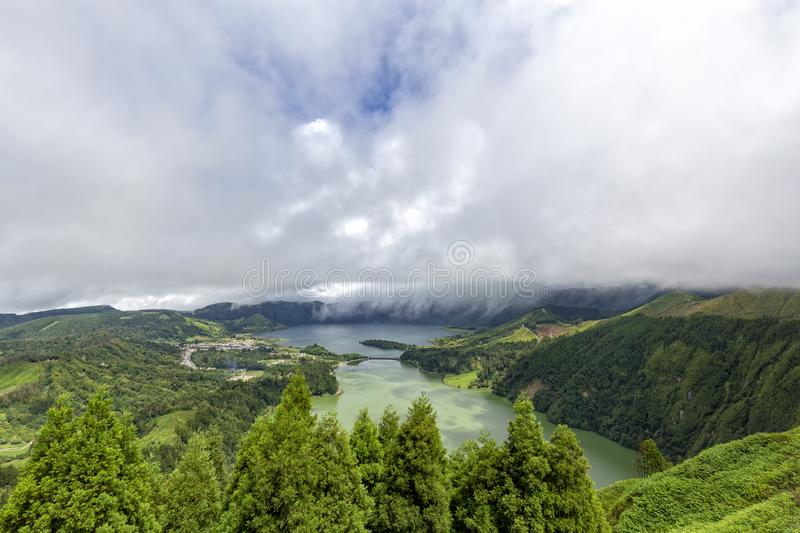 View of Sete Cidades stock image