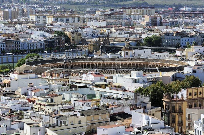 Sevilla and Plaza de Toros de la Maestranza, Sevilla, Spain stock photos
