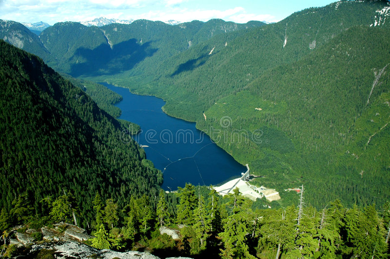 View of the Seymour Reservior stock photography