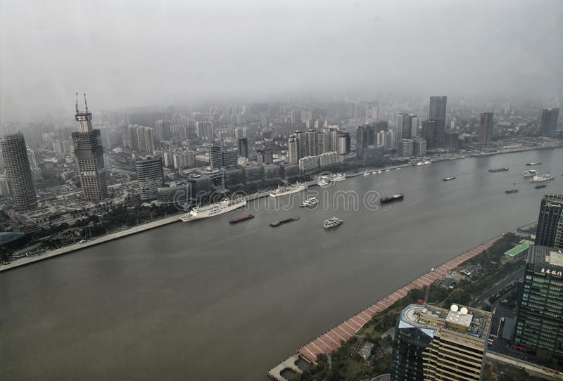 View of Shanghai and River royalty free stock photo