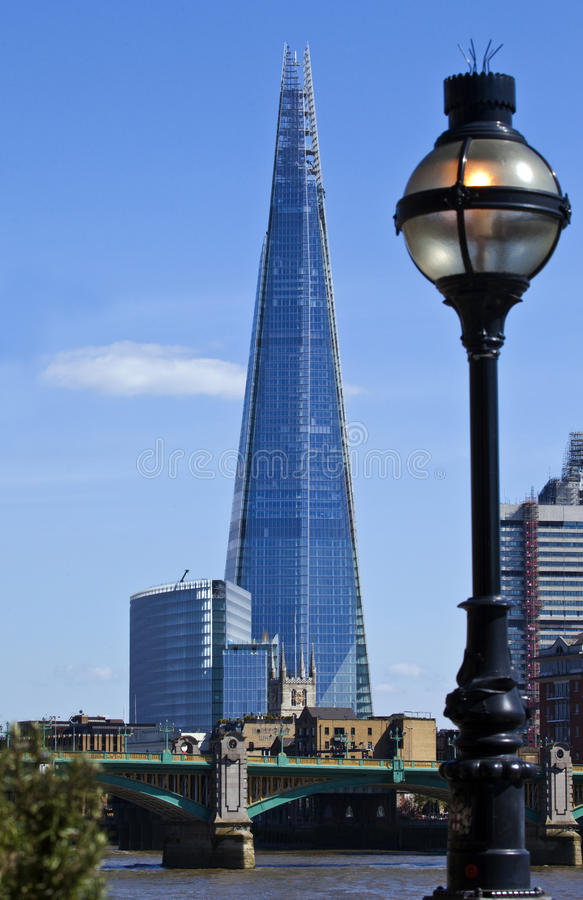 View of the Shard in London royalty free stock photos