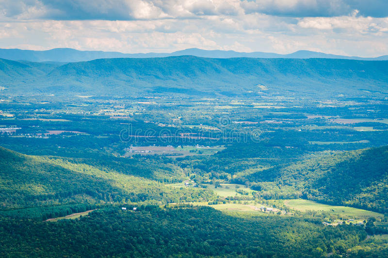 View of the Shenandoah Valley and Appalachian Mountains from the stock images