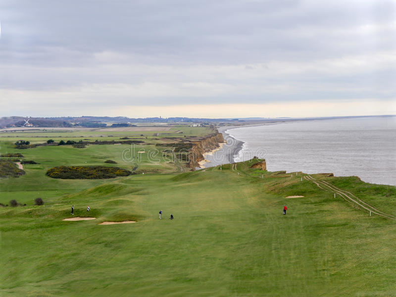 View Of Sheringham Golf Course. Editorial Image - Image of framed ...