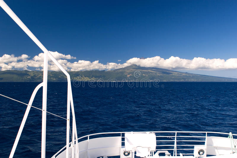 Download View from ship stock image. Image of wave, panorama, cloudy - 21999533
