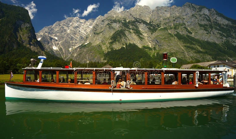 Download View Of The Ship On The Lake Of Königsee, Berchtesgaden Nation Editorial Stock Photo - Image: 83703088