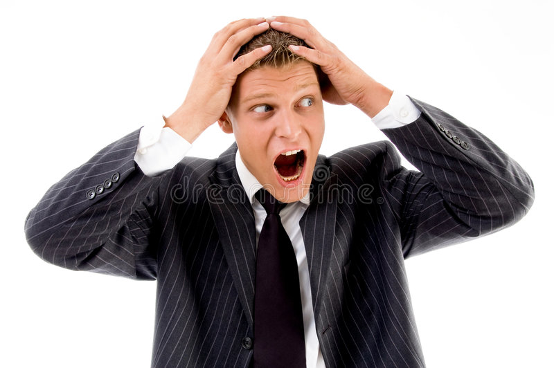 View Of Shocked Professional Person Royalty Free Stock Photo