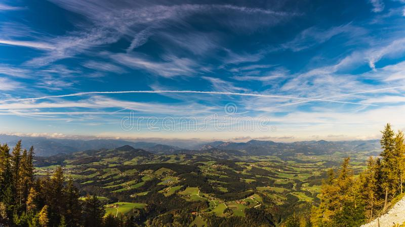 View from Shockl mountain in Graz. Tourist spot in Graz royalty free stock images