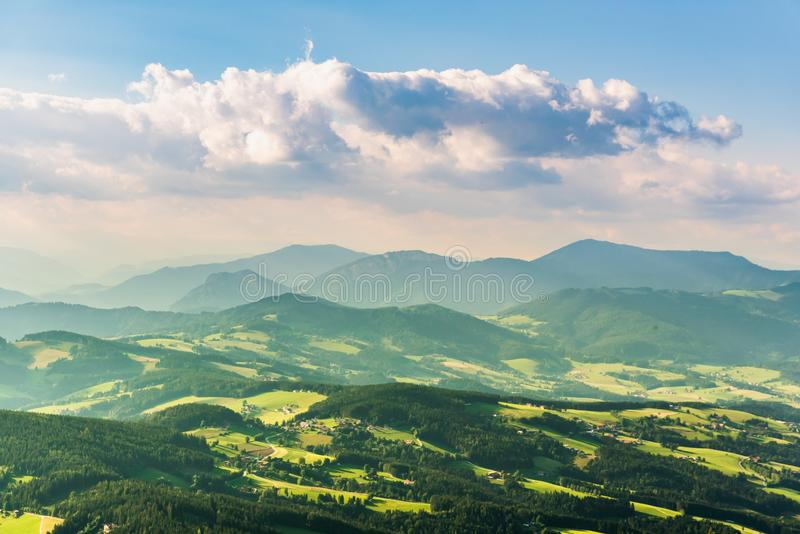 View from Shockl mountain in Graz. Tourist spot in Graz stock photos