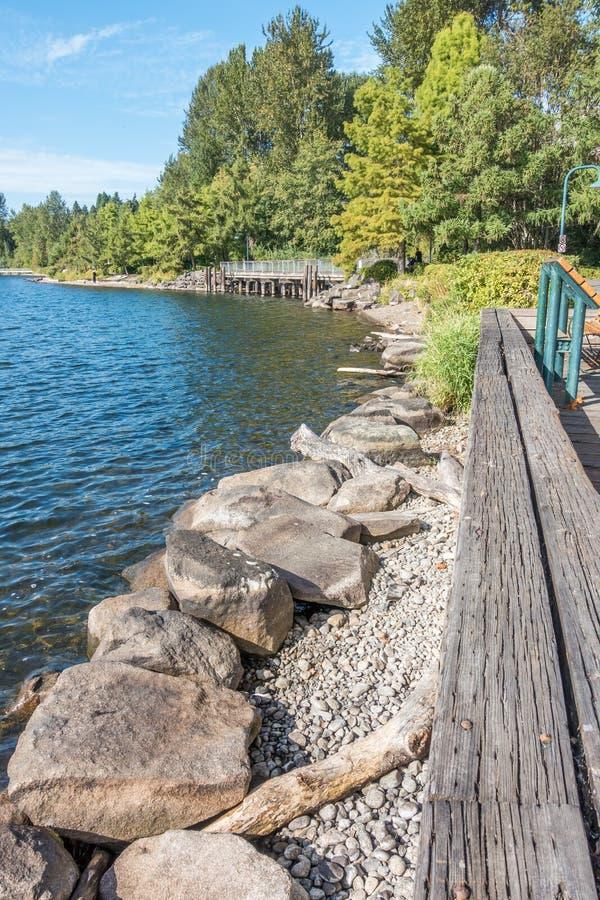Gene Coulon Park Shoreline 2 stock image