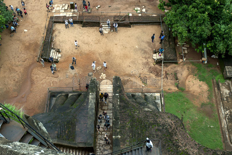A view showing the Lions Paws on The Lion Platform at Sigiriya Rock in Sri Lanka. royalty free stock image