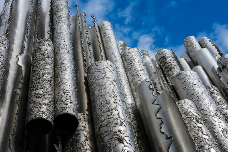 View of Sibelius Monument Sibelius-monumentti stock image